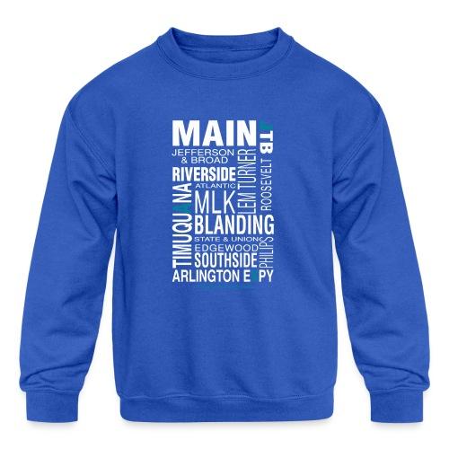 Jacksonville Streets - Kids' Crewneck Sweatshirt