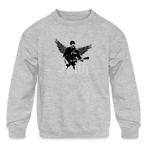 faithwings png - Kids' Crewneck Sweatshirt