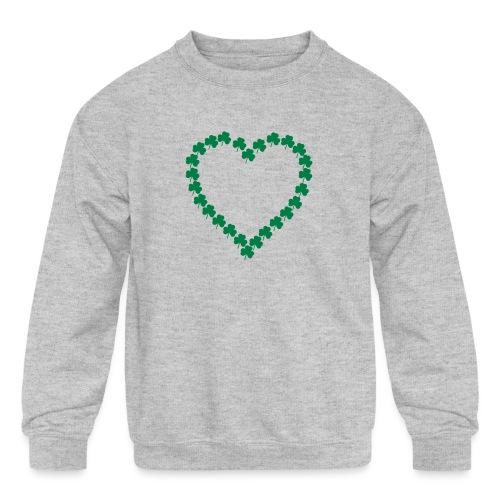 shamrock heart - Kids' Crewneck Sweatshirt