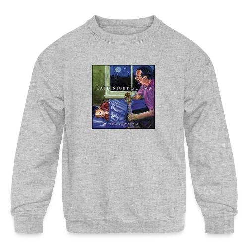 Cover Late Night Guitar - Kids' Crewneck Sweatshirt