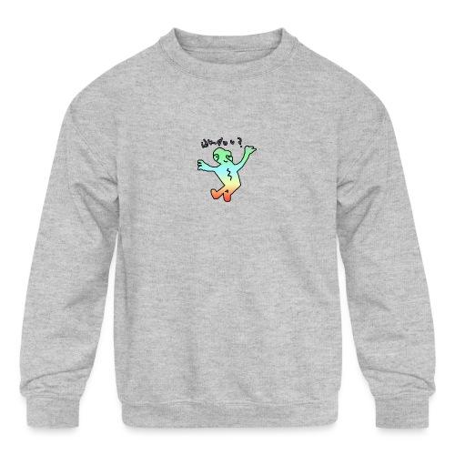 idk do u? tee - Kids' Crewneck Sweatshirt