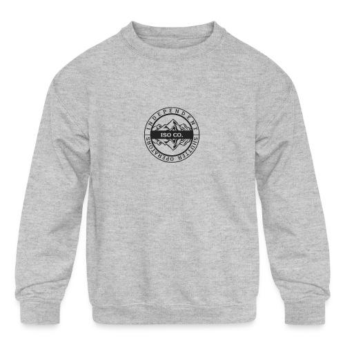 ISO Co. Black Classic Emblem - Kids' Crewneck Sweatshirt