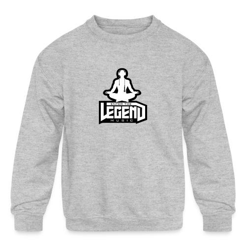 Enter The Legend Music B/W - Kids' Crewneck Sweatshirt
