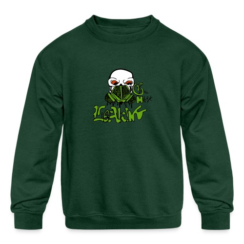 Leaking Gas Mask - Kids' Crewneck Sweatshirt