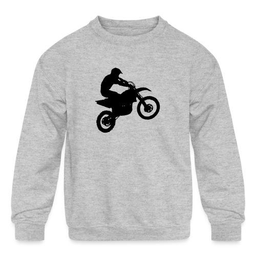 Motocross Dirt biker - Kids' Crewneck Sweatshirt