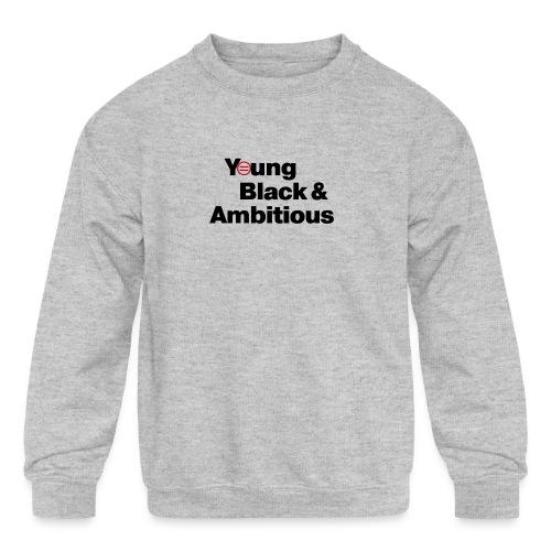 YBA white and gray shirt - Kids' Crewneck Sweatshirt