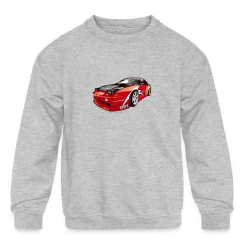 cars drift - Kids' Crewneck Sweatshirt