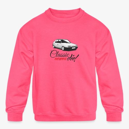 Favorit classic newer die - Kids' Crewneck Sweatshirt
