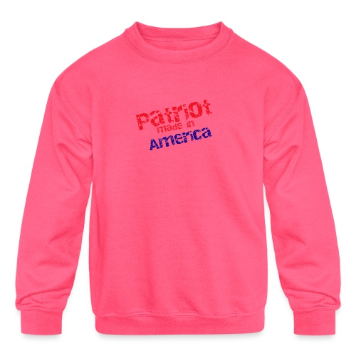 Patriot mug - Kids' Crewneck Sweatshirt