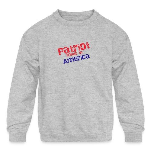 Patriot mug - Kids' Crewneck Sweatshirt