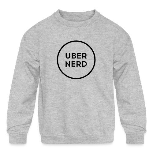 uber nerd logo - Kids' Crewneck Sweatshirt