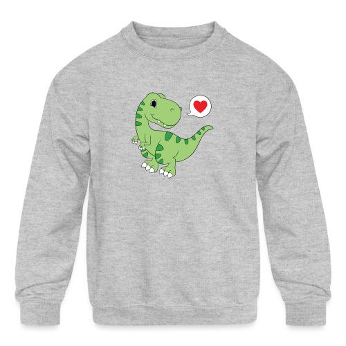 Dinosaur Love - Kids' Crewneck Sweatshirt