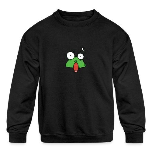 Frog with amazed face expression - Kids' Crewneck Sweatshirt