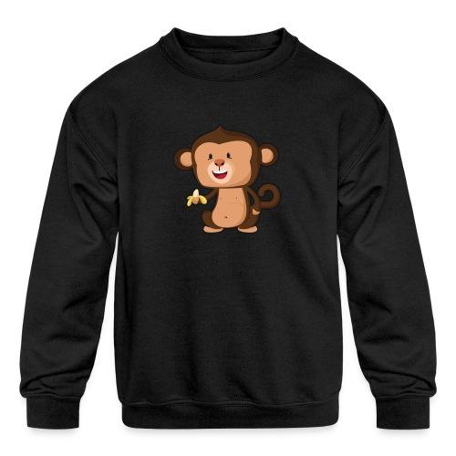 Baby Monkey - Kids' Crewneck Sweatshirt