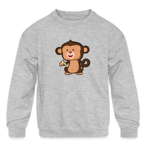Baby Monkey - Kids' Crewneck Sweatshirt