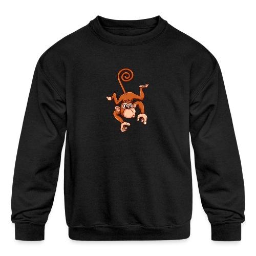 Cheeky Monkey - Kids' Crewneck Sweatshirt