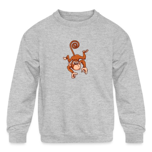 Cheeky Monkey - Kids' Crewneck Sweatshirt