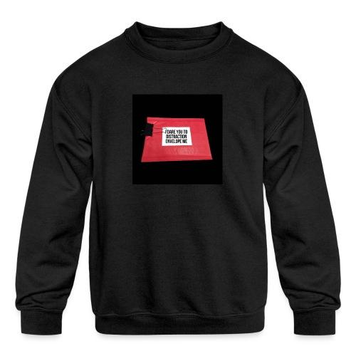 Distraction Envelope - Kids' Crewneck Sweatshirt