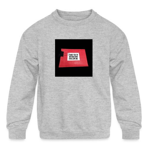 Distraction Envelope - Kids' Crewneck Sweatshirt