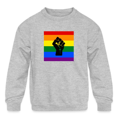 BLM Pride Rainbow Black Lives Matter - Kids' Crewneck Sweatshirt