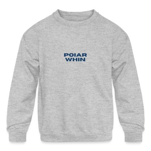 PoIarwhin Updated - Kids' Crewneck Sweatshirt