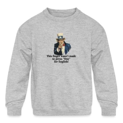Uncle Sam - Finger - Kids' Crewneck Sweatshirt