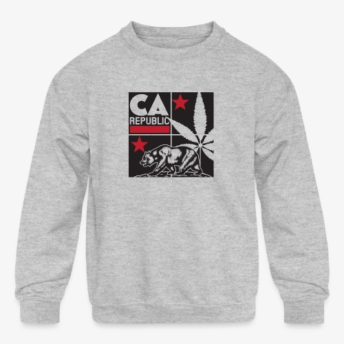 grid2 png - Kids' Crewneck Sweatshirt