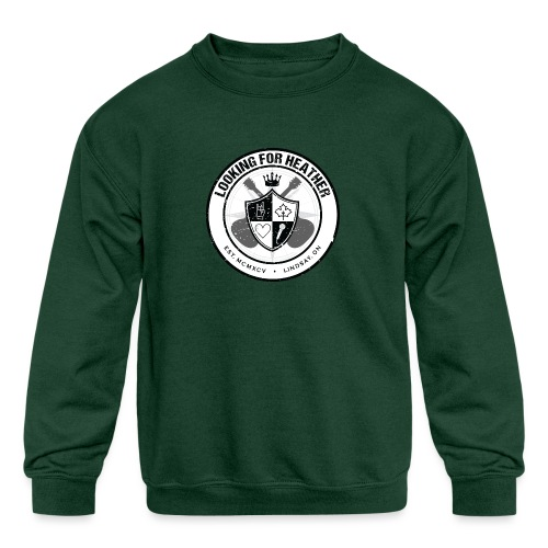 Looking For Heather - Crest Logo - Kids' Crewneck Sweatshirt