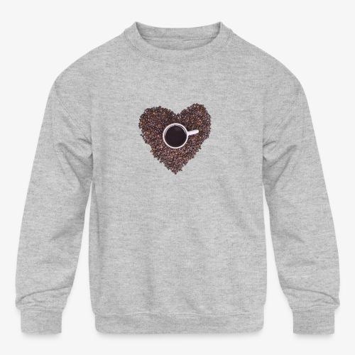 I Heart Coffee Black/White Mug - Kids' Crewneck Sweatshirt
