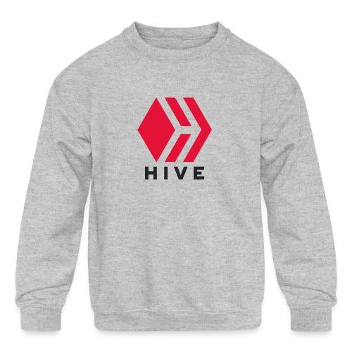 Hive Text - Kids' Crewneck Sweatshirt