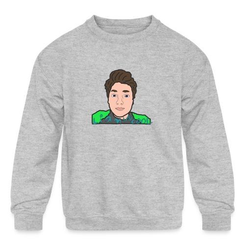 LiamWcool head tee - Kids' Crewneck Sweatshirt