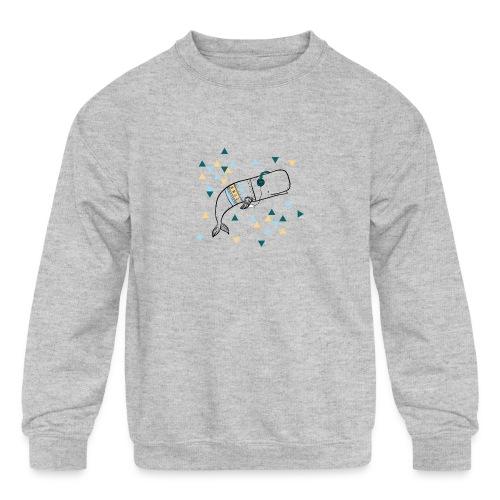 Music Whale - Kids' Crewneck Sweatshirt