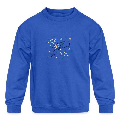 Music Whale - Kids' Crewneck Sweatshirt