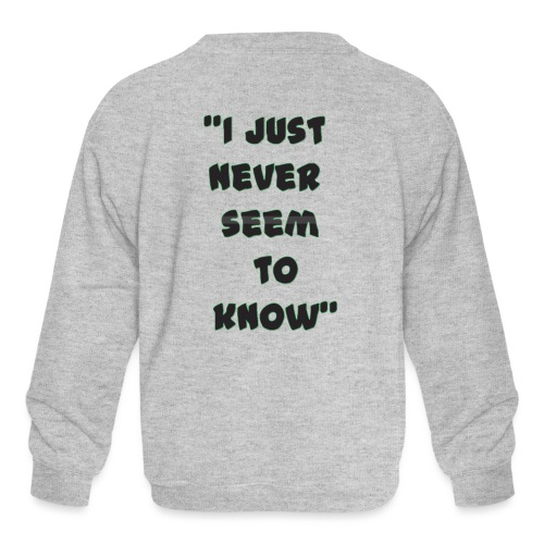 know png - Kids' Crewneck Sweatshirt