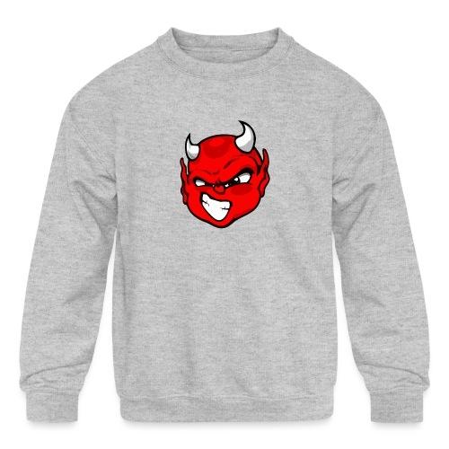 Rebelleart devil - Kids' Crewneck Sweatshirt