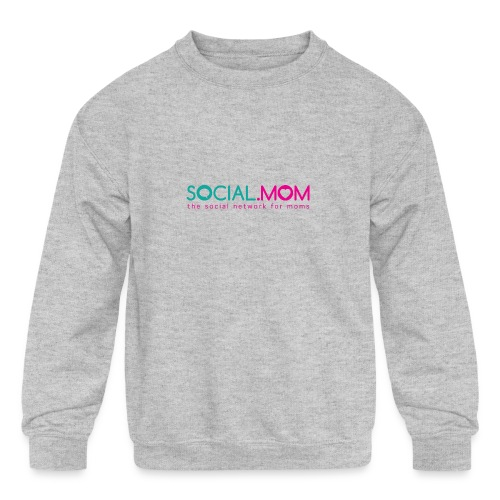 Social.mom Logo English - Kids' Crewneck Sweatshirt