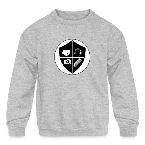 Punk Who Drinks Tea Crest - Kids' Crewneck Sweatshirt