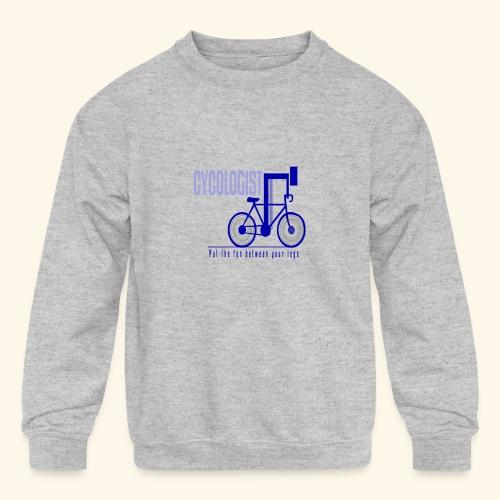 Cycologist T Shirt for Men, Women, Kids, Babies - Kids' Crewneck Sweatshirt