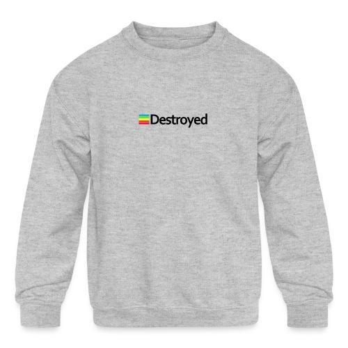 Polaroid Destroyed - Kids' Crewneck Sweatshirt