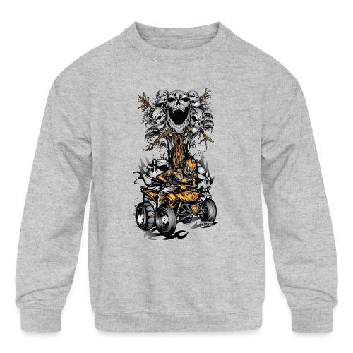 ATV Skulltree Halloween - Kids' Crewneck Sweatshirt