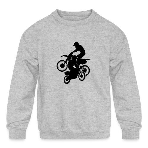 Motocross Dirt Bikes Off-road Motorcycle Racing - Kids' Crewneck Sweatshirt