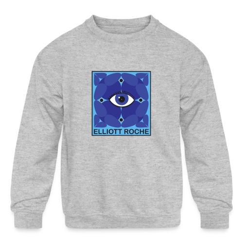 ElliottBlueEye - Kids' Crewneck Sweatshirt