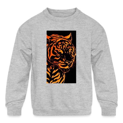 Fire tiger - Kids' Crewneck Sweatshirt