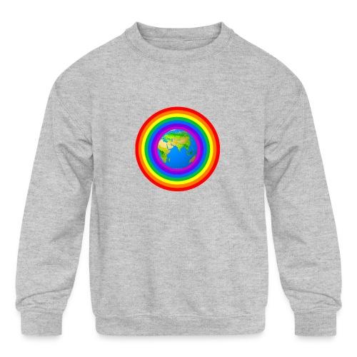 Earth rainbow protection - Kids' Crewneck Sweatshirt