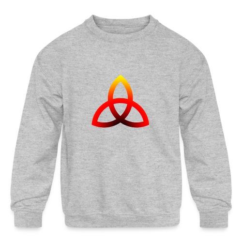 triquetra fire - Kids' Crewneck Sweatshirt