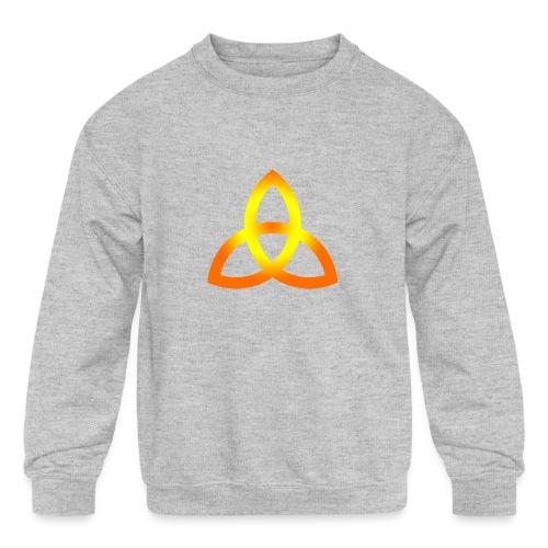 triquetra orange - Kids' Crewneck Sweatshirt