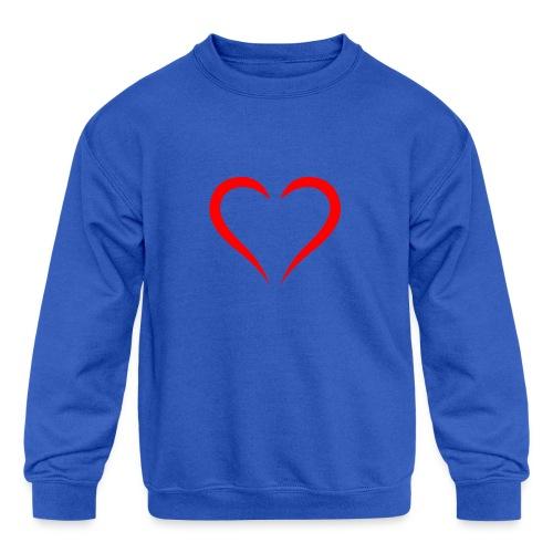 open heart - Kids' Crewneck Sweatshirt