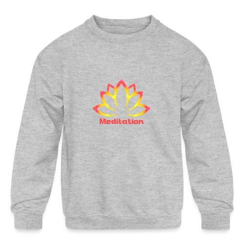 Lotus meditation - Kids' Crewneck Sweatshirt