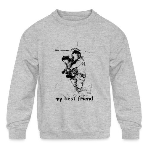 My Best Friend (baby) - Kids' Crewneck Sweatshirt