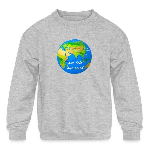 one belt one road - Kids' Crewneck Sweatshirt
